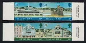 Isle of Man Europa CEPT Architecture 4v SG#344-347 SC#332a+334a