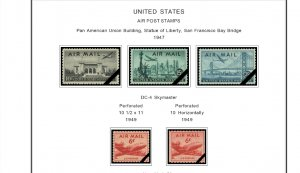 COLOR PRINTED U.S.A. AIRMAIL 1918-2012 STAMP ALBUM PAGES (17 illustrated pages)