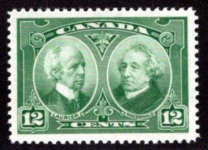 Scott 147, , Canada, 12c, XF/SUPERB, MNHOG, Laurier and Macdonald,Postage S...