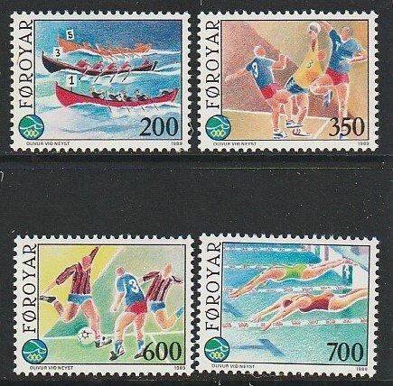 1989 Faroe Islands - Sc 193-6 - MNH VF - 2 single - Island Games