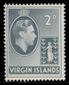 BRITISH VIRGIN ISLANDS GVI SG113a, 2d grey, M MINT.