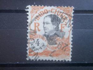 INDO-CHINA, 1922, used 4c, Girl  Scott 101