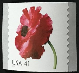 US MNH #4173 Coil Single Poppy Beautiful Blooms SCV $2.00