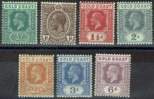 GOLD COAST 1921 KGV RANGE TO 6D WMK MULTI SCRIPT CA
