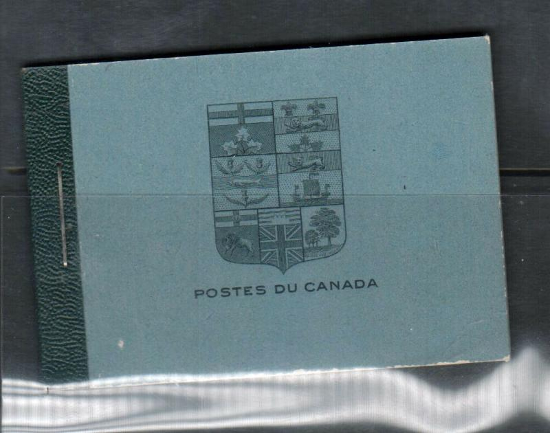 Canada Booklet #9a French Extra Fine Mint Complete Booklet