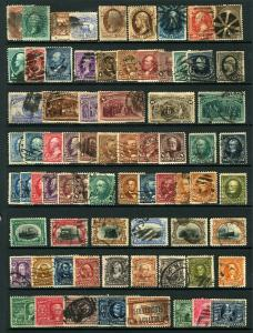 #65-#330 1861-1907 Used U.S. Lot Mid 19th - Early 20th Century CV $1,000 73 Item