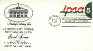 1971 USA IPSA Inauguration Oklahoma City FDC