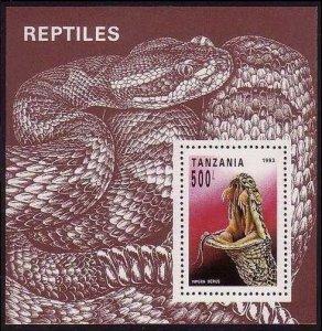 Tanzania MNH S/S 1135 Snake Reptile 1993