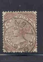 Natal Sc 53 1878 4d brown Victoria stamp used