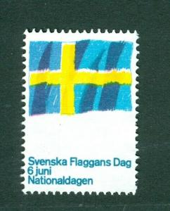 Sweden Poster Stamp MNG.1967. National Day June 6. Swedish Flag.