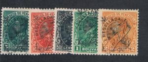 Venezuela 150-51;153-55 Used Simon Bolivar (V0284)