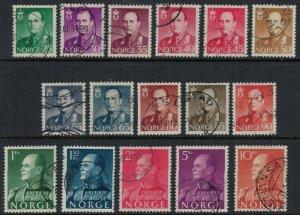 Norway #360-74  CV $5.75  complete set