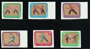 North Viet Nam - 1968 - Sc 515 - 520  - Martial Arts - Imperforation - MNH