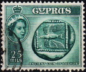Cyprus. 1955 25m S.G.179 Fine Used