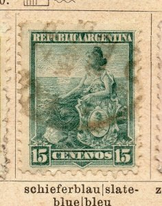 Argentina 1900 Early Issue Fine Used 15c. NW-11767