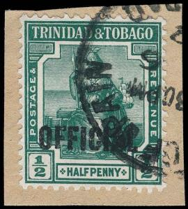 Trinidad and Tobago Scott O5 Variety 2 Gibbons O15b Used Stamp - Price on Reques