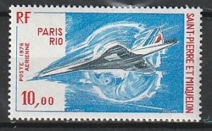 1976 St. Pierre and Miquelon - Sc C59 - MNH VF - 1 single - Concorde