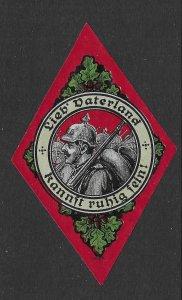 German World War 1 Cinderella Poster Stamp Soldier, Beloved Fatherland MNG Nr29