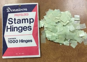 Vintage PACK of 1000 Dennison  Hinges green , peelable , opened