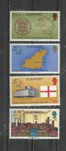 Guernsey Scott catalogue #111-114 Mint NH