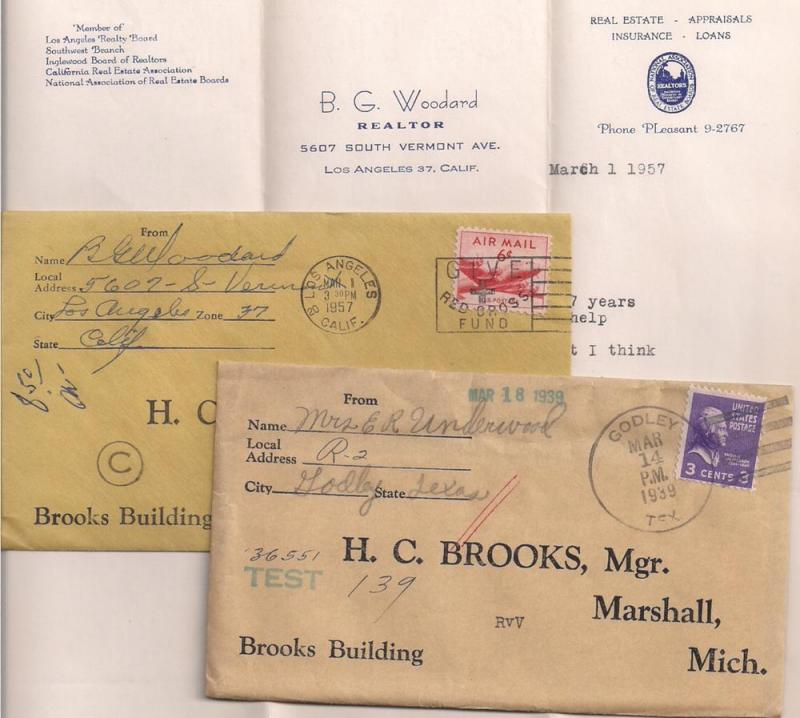 Interesting covers to HC Brooks Truss seller #807 Prexie C39