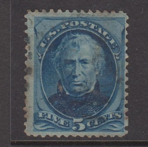 USA - Scott 185 - Taylor Ussue - Used - 1879 - Perf.12 - 5c Stamp