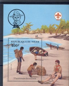 1982 Niger Boy Scouts 75th anniversary canoes beach SS