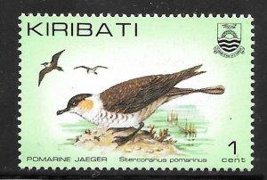 Kiribati 384: 1c Pomarine Jaeger (Stercorarius pomarinus), MH, VF