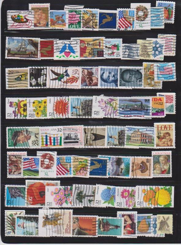 LOT OF DIFFERENT STAMPS OF USA USED (67) LOT#US616