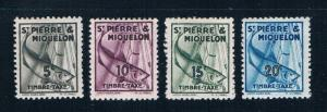 St Pierre and Miquelon J32-35 MLH Codfish 1938 (S0971)