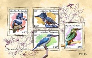 C A R - 2019 - Kingfishers - Perf 4v Sheet - MNH