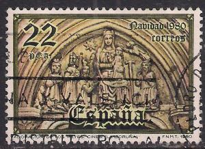 Spain 1980 22pca Christmas used stamp ( E1187 )