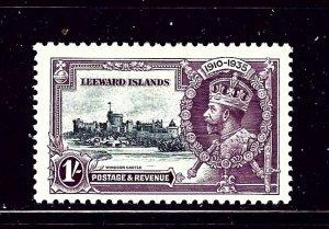 Leeward Is 99 MHR 1935 KGV Silver Jubilee high value of set