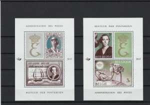 belgium  2 mint never hinged stamps sheet ref  r11279