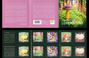 Luxembourg 2013 MNH Booklet Stamps Scott 1367-1371 Mushrooms