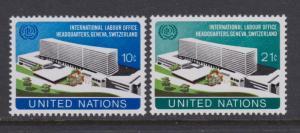 UN # 244 - 245 , ILO Headquareters , F-VF OG NH - I Combine S/H