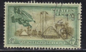 SOMOA SCOTT# 204  USED  1p  1952  FLAGS SEE SCAN