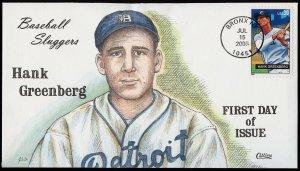 Collins Handpainted FDC Baseball Sluggers: Hank Greenberg (7/15/2006)