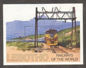 LESOTHO Sc# 458 MNH FVF SS Blue Train South African Railways