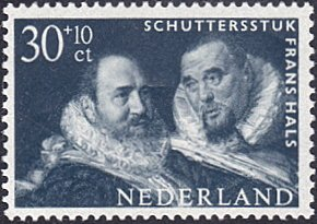 Netherlands # B367 mnh ~ 30¢ + 10¢ Painting of Two Guardsmen