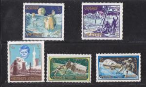 Yemen (Kingdom) M # 191A-195A, Kennedy & Space, Mint NH