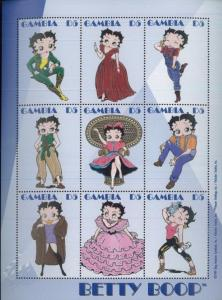 Chad 856-8 Betty Boop Mint Nh Up-To-Date Styling Stamps Africa