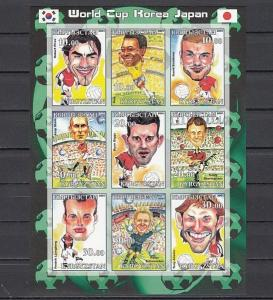 Kyrgyzstan, 2001 Russian Local issue. World Cup Soccer #3 IMPERF sheet.