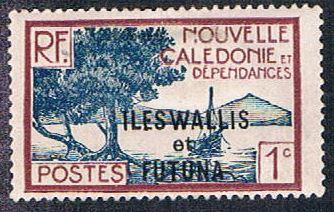 New Caledonia 136 MH Overprint (BP449)