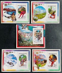 S/S & Deluxe Blocks Stamps O.G Albertville 92 Madagascar 90 Imperf.