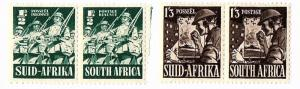 SOUTH AFRICA 1941-43 Scott 81 & 89 mnh pairs - scv $14.50 BIN $7.25