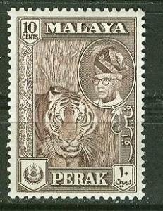 Malaya-Perak # 132  10c Tiger  (1) VF Unused VLH