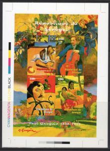 Senegal 1999 YT#1578/1581 PAUL GAUGUIN Sheetlet UNIQUE FINAL PROOF CROMALIN !!!!