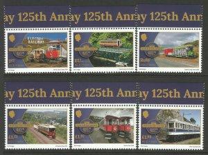 Isle of Man IOM 2018 MNH Manx Electric Railway 6v Europa Bridges Trains Stamps