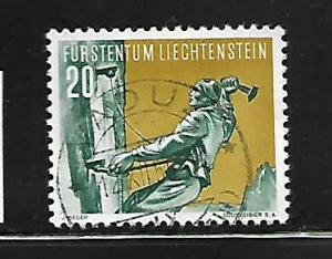 LIECHTENSTEIN, 290, USED,  SPORTS TYPE OF 1954
